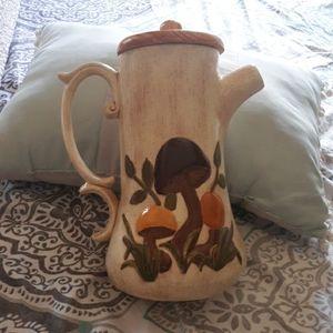 Vintage mushroom tea pot